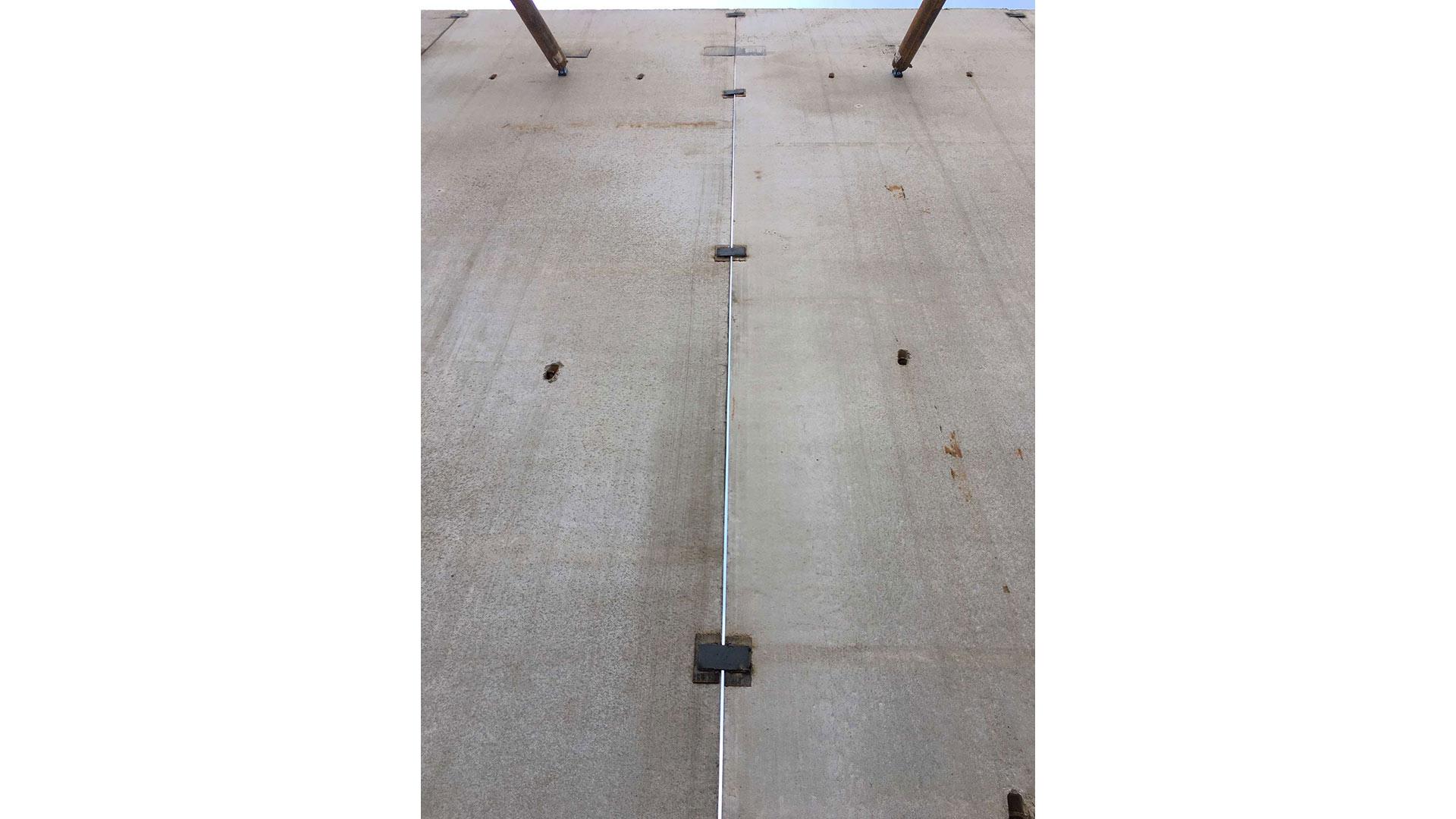 Connect-EZ shear panel connectors on job site