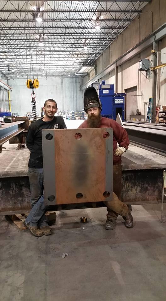 Tincher's Welding employees in shop