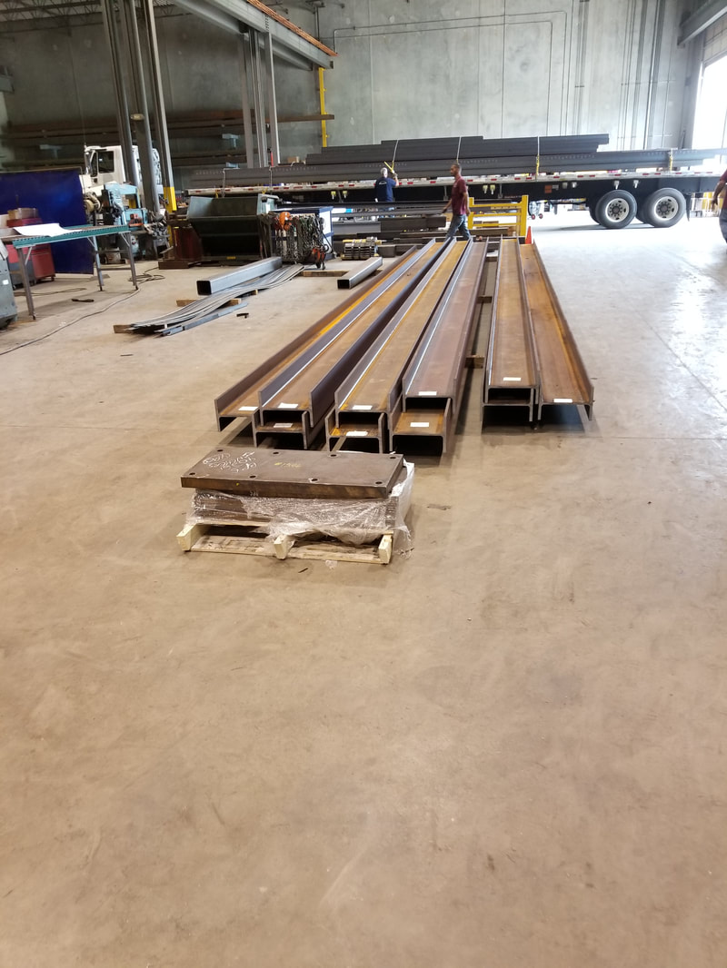 Steel beams ready for delivery